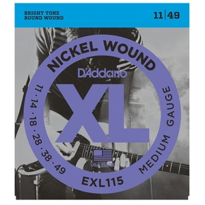 D'addario EXL115 Electric Guitar Strings - 11-49
