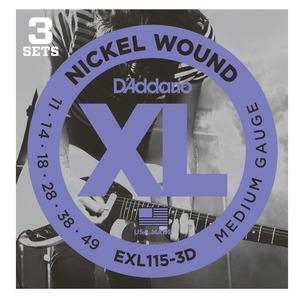D'addario EXL115 3D Pack