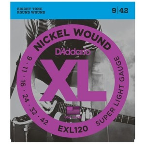 D'addario EXL120 Electric Guitar Strings - 9-42