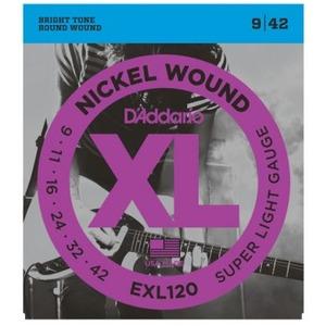 D'addario EXL120 Electric Guitar Strings - 9-42