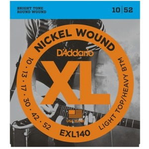 D'addario EXL140 Electric Guitar Strings - 10-52