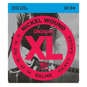 D'addario EXL145 Electric Heavy 12-54 Plain 3rd