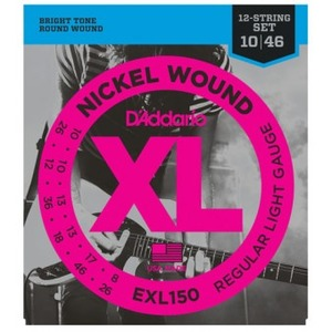 D'addario EXL150 Electric 12 String Set - 10-46