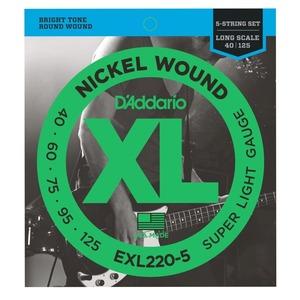 D'addario EXL220-5 Nickel Bass 5 String Super Light 40-125