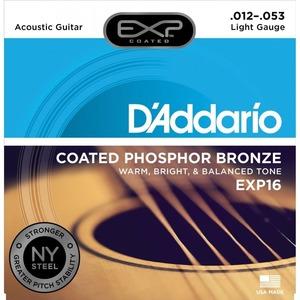 D'addario EXP16 Coated Phosphor Bronze Acoustic Strings - 12-53