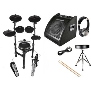 Carlsbro CSD130M Compact Electronic Drum Kit PACKAGE DEAL