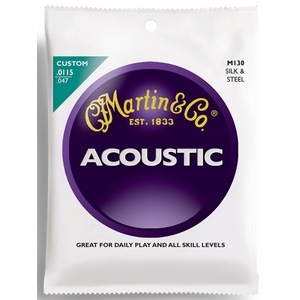 Martin M130 Silk and Steel Folk Acoustic Strings