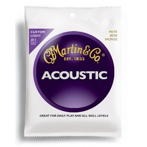 Martin M175 Custom Light Gauge Acoustic Strings - 3 Pack