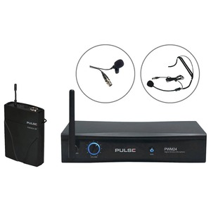 Pulse PWM24-Lav-HSM - Digital Wireless Beltpack With Lavalier & Headset System