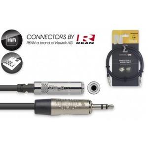 Stagg N-Series Stereo Mini Socket - Stereo Mini Jack Cable - 3 Metre