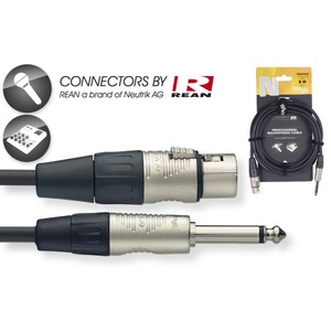 Stagg N Series Audio Cable Male XLR - Mono Large Jack - 6 Metre