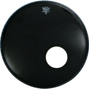 Remo Powerstroke 3 Bass Drum Ebony WITH HOLE - 22""