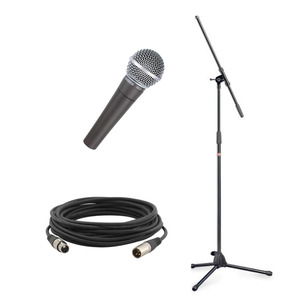 Shure SM58 Microphone and Boom Stand Package