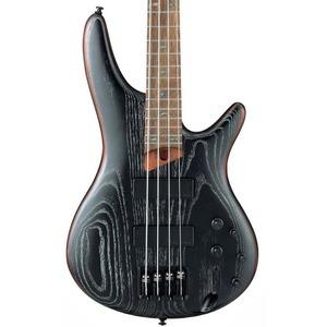 Ibanez SR670 4-String Bass Guitar - Silver Wave Black Flat