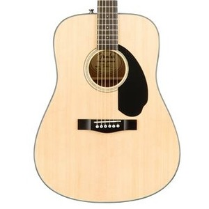 Fender CD60S Solid Top Dreadnought Acoustic Guitar - Natural