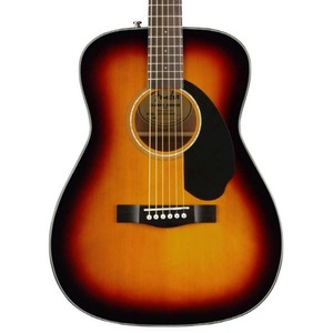 Fender CC60S Solid Top Concert Acoustic Guitar - 3 Colour Sunburst