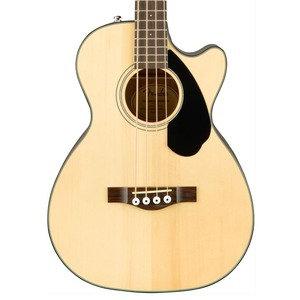 Fender CB60CE Solid Top Acoustic Bass Guitar - Natural