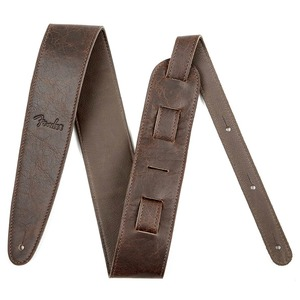 """Fender Artisan Crafted 2"""" Leather Guitar Strap  - Brown"""