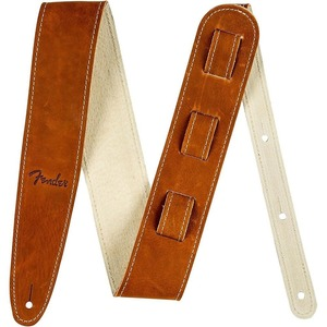 Fender Ball Glove Leather Guitar Strap - Brown