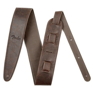 """Fender Artisan Crafted 2.5"""" Leather Guitar Strap - - Brown"""