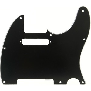 Fender Tele Pickguard 8 Hole - 3 Ply - Black