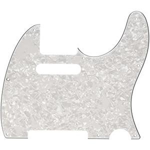 Fender Tele Pickguard 8 Hole - 4-ply - White Pearl