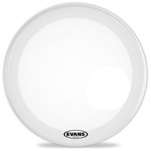 Evans EQ3 Resonant Coated White Bass Drum Head NO PORT