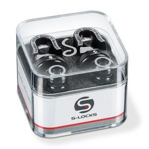 Schaller S Locks Guitar Strap Locks - S Locks Guitar Strap Locks In Black