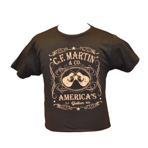 Martin C F Martin Clothing - T Shirt - Dual Guitar Black