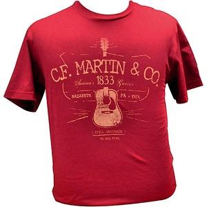 Martin C F Martin Clothing - T Shirt - D28 Logo Cardinal