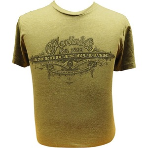 Martin C F Martin Clothing - T Shirt - Americas Guitar Military Green
