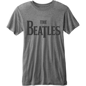 Official Beatles Burn-Out Drop T Logo T-Shirt