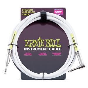 Ernie Ball Instrument Cable White J-AJ