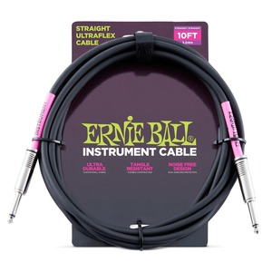 Ernie Ball Instrument Cable Black J-J