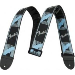 Fender Monogrammed Strap - Black / Grey / Blue
