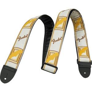 Fender Monogrammed Strap - White / Brown / Yellow