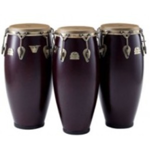 Pearl Elite Series Fibreglass Congas - Burgundy Marble