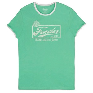 Fender T-Shirt - Beer Label / Surf Green
