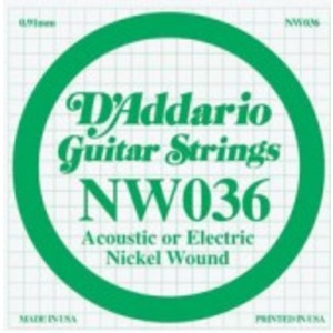 D'addario Nickel Wound Single String - Electric / Acoustic