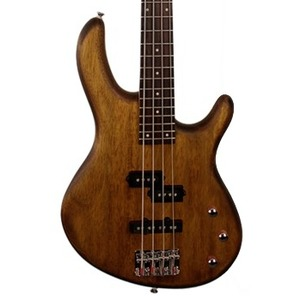 Cort Action PJ 4-String Bass Guitar - Open Pore Walnut