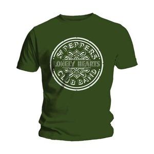 Official Beatles Sgt Pepper Green T-Shirt