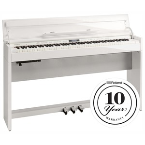 Roland DP603 Slim Digital Piano - Polished White