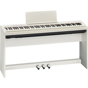 Roland FP30 Digital Piano Bundle Deal - Includes Stand and 3 Pedal Unit - White