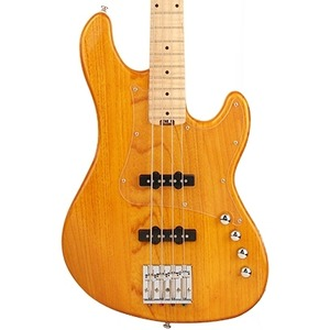 Cort GB74JJ 4-String Active Bass Guitar - Amber