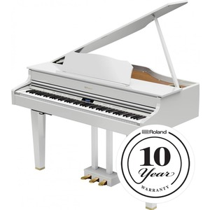 Roland GP607 Digital Grand Piano - Polished White