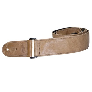 Leather Graft Adjustable Stretched Leather/Poly Guitar Strap - Tan