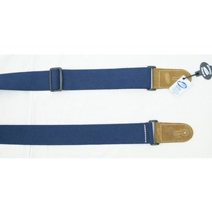 Leather Graft Adjustable Cotton Web Guitar Strap - Blue