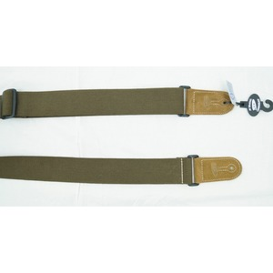 Leather Graft Adjustable Cotton Web Guitar Strap - Green