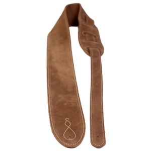 Leather Graft Comfy Suede Guitar Strap - Tan