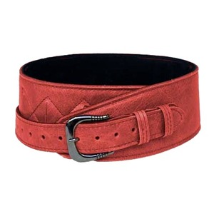 Leather Graft Comfy Softie Guitar Strap BUCKLE - Red